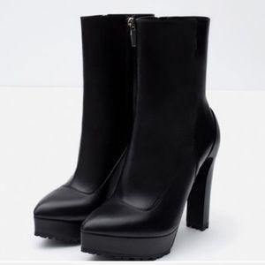 Zara Black Platform Kickin' Boots